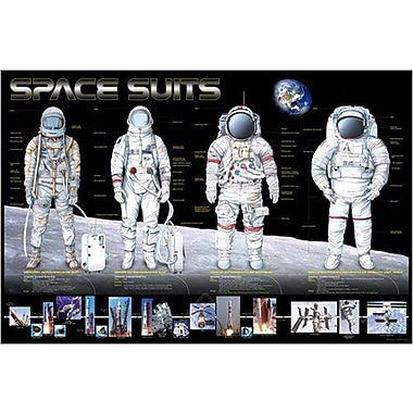Space Suits Poster, 26 3/4