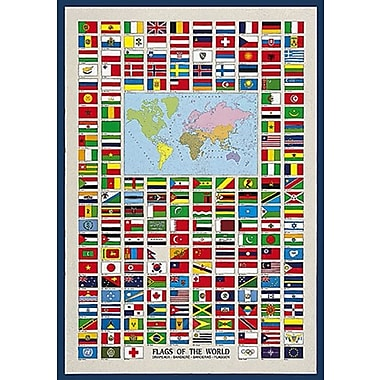 Flags of the World Poster, 26-3/4
