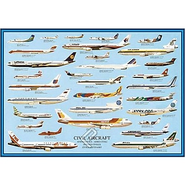 Civil Aircraft Poster, 26-3/4