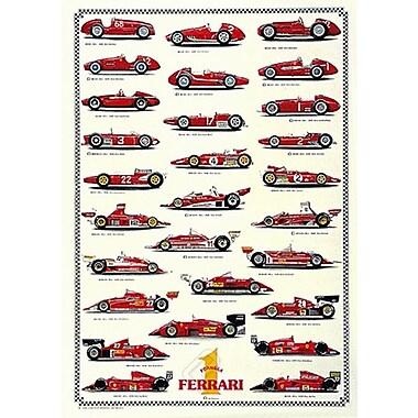 Ferrari Formula 1 Chart Poster, 26-3/4