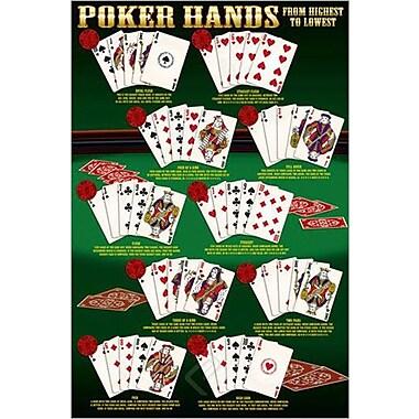 Poker Hands Poster, 24