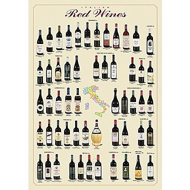 Italian Red Wines Poster, 26-3/4