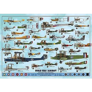 World War I Aircraft Poster, 26 3/4