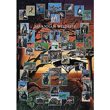 Savannah Wildlife Poster, 26 3/4