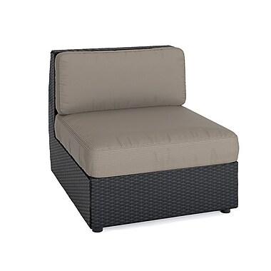 Corliving - Ensemble avec chaise longue et chaises arquées Seattle pour terrasse - 6 pièces