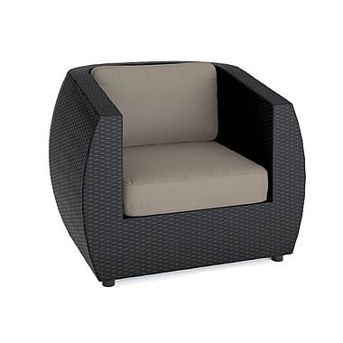 Corliving - Ensemble canapé et chaises arquées Seattle pour terrasse - 5 pièces