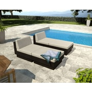 Sonax™ Park Terrace 4-Piece Lounger Patio Set, Salt & Pepper/Black Textured