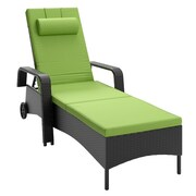 CorLiving™ Riverside Polyester Patio Reclining Lounger, Apple Green