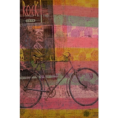 Marmont HIll 'Rock Cafe' by Jen Lee Painting Print on Wrapped Canvas; 60'' H x 40'' W