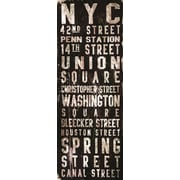 Marmont HIll Union Square by Art Collective Textual Art on Wrapped Canvas; 30'' H x 10'' W