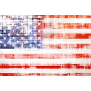 Marmont HIll American Flag by Art Collective Graphic Art on Wrapped Canvas; 24'' H x 36'' W
