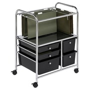 Honey Can Do 28.75'' 5 Drawer Hanging File Cart in Chrome/Black