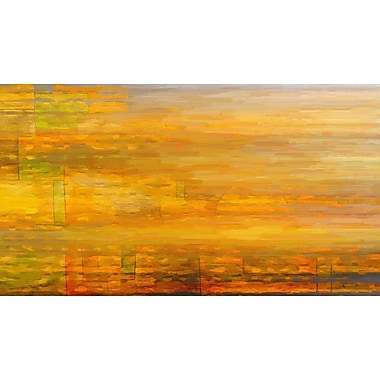 Marmont HIll 'Abstract 1H' Painting Print on Wrapped Canvas; 30'' H x 60'' W