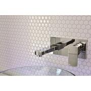Smart Tiles Mosaik Self Adhesive High-Gloss Mosaic in White I