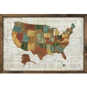 Forest Creations Magnet Art Print United States of America Framed Wall Art