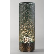 Studio A Lodi Vessel 24'' H Table Lamp with Drum Shade; Copper Verdigris