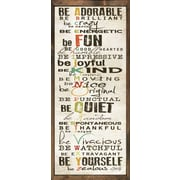 Forest Creations Magnet Print Be Adorable Framed Textual Art