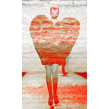 Marmont HIll 'Heart Walk' Painting Print on Wrapped Canvas; 24'' H x 12'' W