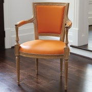 Global Views Marilyn Leather Arm Chair; Orange