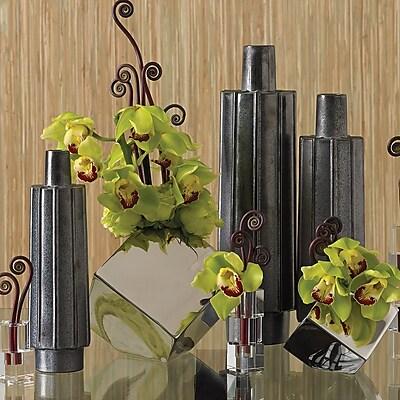 Global Views Ribbed Bottle Vase; Large WYF078276911105