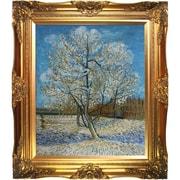 Tori Home Pink Peach Tree Van Gogh Framed Original Painting