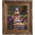 Tori Home Garden Path at Giverny Monet Framed Original Painting