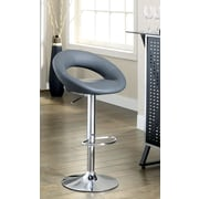 Hokku Designs Theory Adjustable Height Swivel Bar Stool with Cushion (Set of 2)