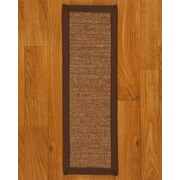 Natural Area Rugs Origins Brown Solid Stair Tread (Set of 13)