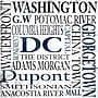 Epic Art Washington DC Textual Art on Canvas