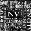 Epic Art Nevada Square Textual Art on Canvas in Black and White