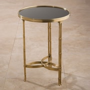 Global Views Draw Attention End Table; Brass