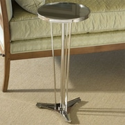 Global Views French Modern End Table; Nickel