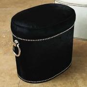 Global Views Angus Leather Ottoman
