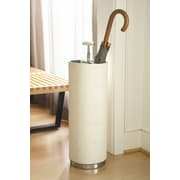 Global Views Umbrella Stand; Beige Leather