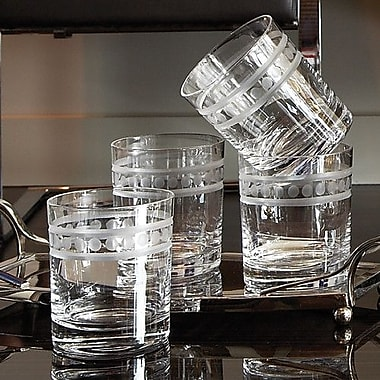 Global Views 2 Band Double Old Fashion Glasses (Set of 6)