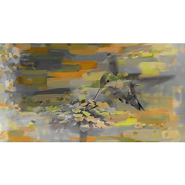 Marmont HIll Whirly Bird by Art Collective Painting Print on Wrapped Canvas; 18'' H x 36'' W