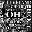 Epic Art Ohio Square Textual Art on Canvas in Black and White