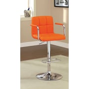 Hokku Designs Goldmember Adjustable Height Swivel Bar Stool; Orange