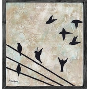 Forest Creations Magnet Art Print Birds on Wire Framed Wall Art