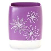Popular Bath Products Daisy Stitch Plastic Trash Can; Lilac