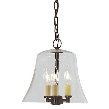 JVI Designs Greenwich 3 Light Outdoor Pendant; Oil Rubbed Bronze