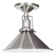 JVI Designs Union Square 1 Light Semi Flush Mount; Pewter
