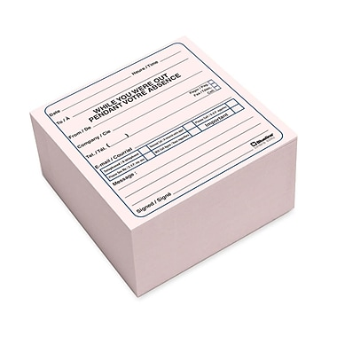Blueline Bilingual Message Cube Pad, 4