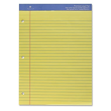 Sparco Three-Hole Punched Ruled Letter Pads, 8.5