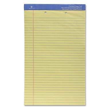 Sparco Two-Hole Punched Ruled Legal Pad, 8.5