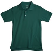 French Toast Cotton Polyester Short Sleeve Pique Polo,  Kelly Green