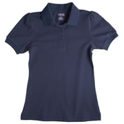 French Toast Short Sleeve Skinny Placket Fitted Polo Size 5, Navy
