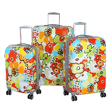 Olympia Polycarbonate Blossom Hard Case Travel Set, 21