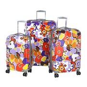 "Olympia Polycarbonate Blossom Hard Case Travel Set, 21"""