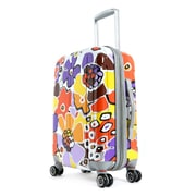 "Olympia Polycarbonate ABS Blossom Expandable Vertical Rolling Upright 25"" Lavender"